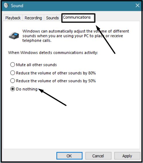Communications tab windows 10 2020 - Windows 10