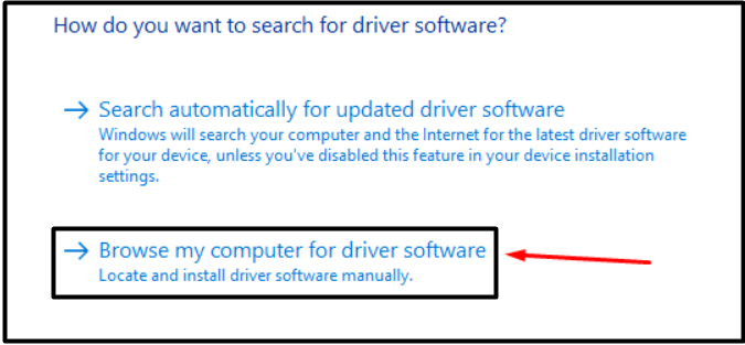 browse computer for drivers 2019 - Windows 10