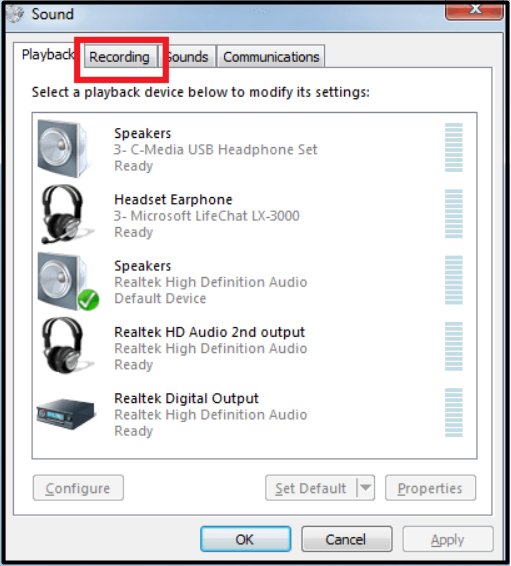 recording tab windows 7 2020