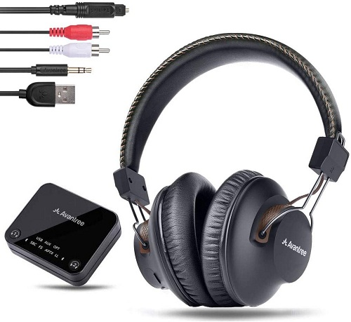 Avantree HT4189 Wireless Headphones for TV Watching with Bluetooth